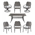 Hampton Bay Fall River 7-Piece Patio Dining Set with Cushion Insert $290 (40% Off) + Free Shipping