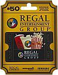 Regal Entertainment Gift Card $40