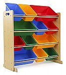 Tot Tutors Kids' Toy Storage Organizer with 12 Plastic Bins $39