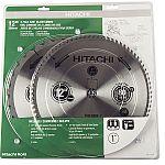 """2-Pack Hitachi 12"""" Miter Circular Saw Blades $26"""