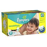 124-Count Pampers Swaddlers Size 5 Diapers ($14 for Amazon Family Member)