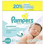 448-Count Pampers Baby Wipes Sensitive 7X Refill $11