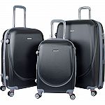 Travelers Club Luggage Barnet 2.0 3PC Round Shell Luggage Set $99.99