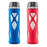 2-Pack ZULU Atlas 20oz. Glass Water Bottle Set $9.91