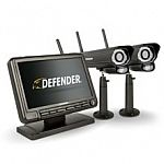"""Defender PHOENIXM2 Digital Wireless Security System with 7"""" LCD Monitor and 2 Long Range Night Vision Cameras $150 (save $80)"""