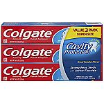 3-Pack of 8oz Colgate Cavity Protection Toothpaste $3.76