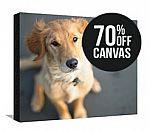 70% off Photos to Art Custom Canvas