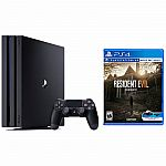 PlayStation 4 Pro 1TB Console Bundle + Resident Evil 7 Biohazard $400