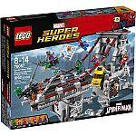 LEGO Spider-Man: Web Warriors Ultimate Bridge Battle Set 76057 $62