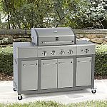 Kenmore 4 Burner Stainless Steel Lid Gas Grill with Storage $249