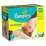 148-Count Pampers Swaddlers Diapers Size 1 $11.77 (Family Prime Only)