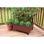 CITY PICKERS 24.5 in. x 20.5 in. Patio Raised Garden Bed Grow Box Kit $19.98