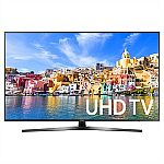 Samsung 55 Inch 4K Ultra HD Smart TV UN55MU7000F (2017 Model) + $250 eGift Card $899.99 + FS