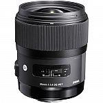 Sigma 35mm f/1.4 DG HSM Art Lens w/ Filter & Dock $799
