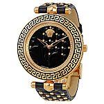 Versace Vanitas Black Diamond Dial Ladies Watch $849