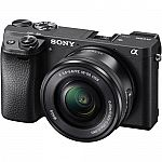 Sony Alpha a6300 Mirrorless Digital Camera w/16-50mm Lens $830