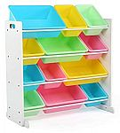 Tot Tutors Kids' Toy Storage Organizer with 12 Plastic Bins $32.77
