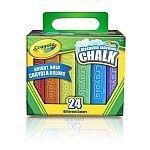 Crayola Sidewalk Chalk, 24-Pack $2.47 + pickup