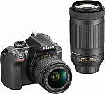 Nikon D3400 DSLR Camera 2 Lens Bundle $500