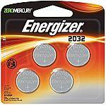 4-Pack Energizer 2032BP-4 3 Volt Lithium Coin Battery $2.18
