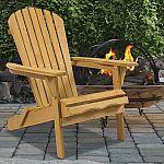 Outdoor Adirondack Wood Chair Foldable Patio Lawn Deck Garden Furniture $40