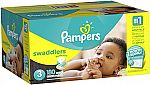 Amazon Pampers Diaper Sale: 128-ct Sawddlers Size N $11.51, 180-ct Size 3 $19.90 and more