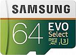 Samsung 64GB UHS-3 Class 10 microSDXC Card $22.99