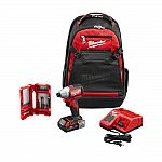 Milwaukee M18 18-Volt Lithium-Ion Brushless 1/4 in. Hex Impact Driver Kit with Backpack and Bit Set $150