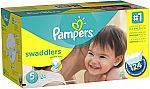 Pampers Swaddlers Diapers Size 5, 124 Count $16.63 (Amazon Family Members)