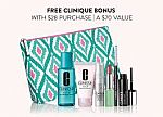 Clinique Bonus Time Free 7-pc Gift with $28, Up to 28-pc (Including a Free Full Size Item)