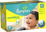 144-Count Pampers Swaddlers Diapers Size 4 for $18.48