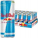 24-Pack Red Bull Sugarfree Energy Drink, 8.4 Fl Oz Cans $26.89 (Prime only)