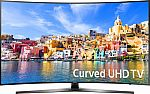 "Samsung 43"" Class LED Curved 2160p Smart 4K Ultra HD TV $430"