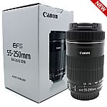 Canon EF-S 55-250mm F4-5.6 IS STM Lens (NEW) $119.20