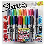 24-pack Sharpie Permanent Markers $8.99 (org $21)
