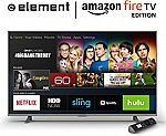 "All-New Element 55-Inch 4K Ultra HD Smart LED TV - Amazon Fire TV Edition $650 43-Inch $450, 50"" $550"