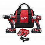 Milwaukee 2691-22 18-Volt Compact Drill and Impact Driver Combo Kit $139