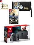 Nintendo Switch Gray Joy-Con Zelda Protect and Play Bundle $400