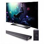 """LG 55"""" C6P Curved OLED HDR 4K 3D Smart TV + LG SJ8 High Resolution WiFi Sound Bar $1697"""
