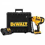 DEWALT Cordless 20V Max 16-G Angled Finish Nailer Kit $229