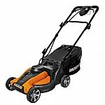 "WG782 WORX 14"" 24-Volt Cordless Lawn Mower with IntelliCut $160"