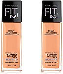 2-Ct Maybelline New York Fit Me Dewy and Smooth Foundation $5.16