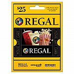 $25 Regal Entertainment Group Gift Card $19