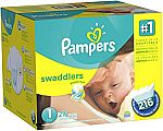 216-Count Pampers Swaddlers Diapers (Size 1) $15.84 (7 cents each)