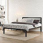 Zinus Modern Studio Black King Platform Bed $99