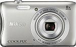 Nikon Coolpix S3700 20.1-Megapixel Digital Camera $100