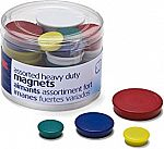 30-count Officemate Heavy Duty Magnets, Assorted Sizes and Colors $4.20