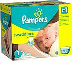 Pampers Swaddlers Diapers Size 1, 148 Count $11.77