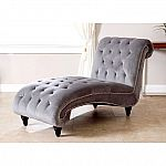 Tiffany Grey Velvet Chaise by Abbyson Living $199 (save 50%)