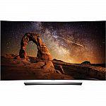 "55"" LG OLED55C6P Curved 4K 3D HDR Smart OLED HDTV $1399"